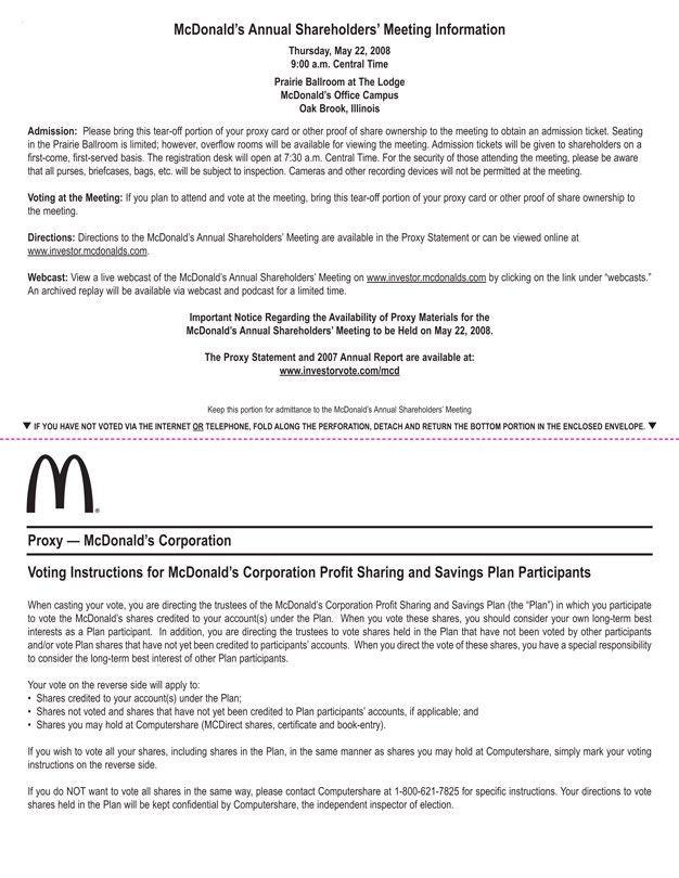 Definitive Notice & Proxy Statement