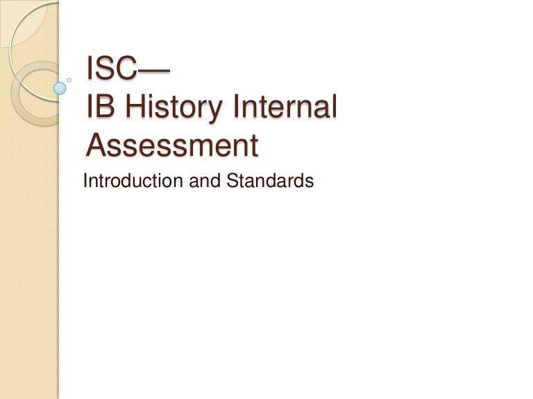 Ib History Internal Assessment--William J. Tolley