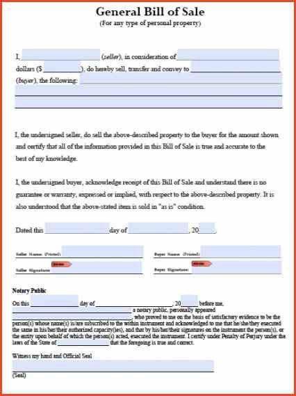 BILL OF SALE TEMPLATE WORD | Proposalsheet.com