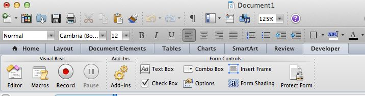 How To Create A Fillable Form in Word 2011 and 2016 | Sound Support