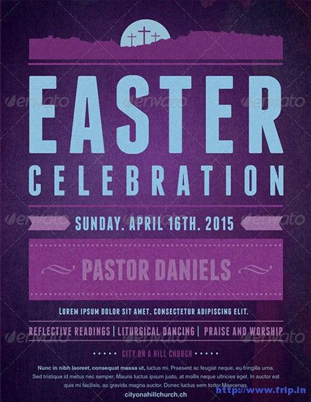 40+ Best Easter Church Flyer Print Templates 2017 | Frip.in