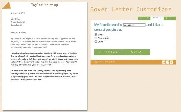 cover letter copywriter no experience