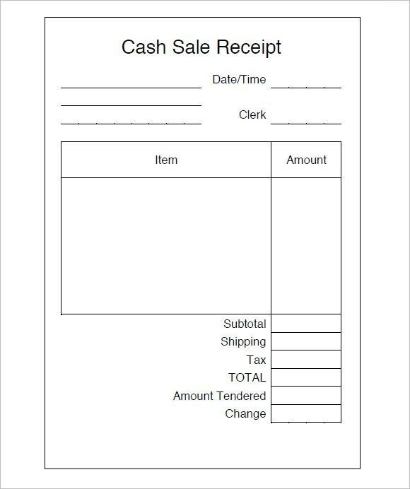 8+ Sales Receipt Templates – Free Samples, Examples, Format