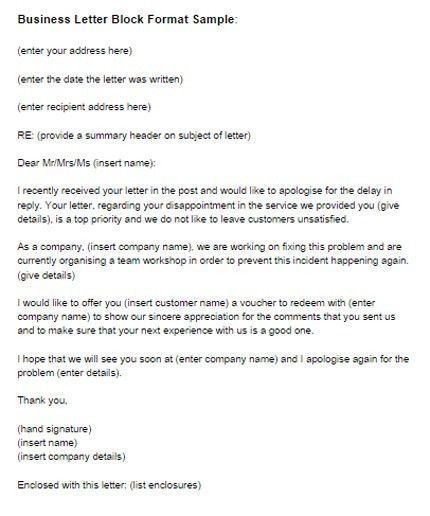 Business Letter Format. Letter Format Spacing And Spacing Letter ...