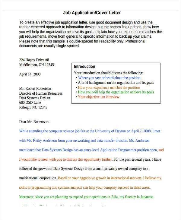 37+ Application Letter Templates | Free & Premium Templates