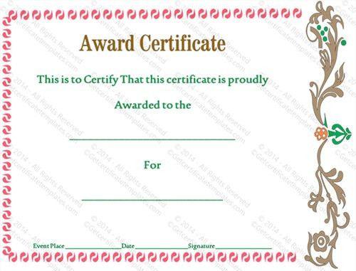 Award Certificate Template - 14+ Download in PSD, PDF