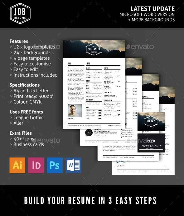 52+ Best Resume Templates Word, PSD, & INDD Download