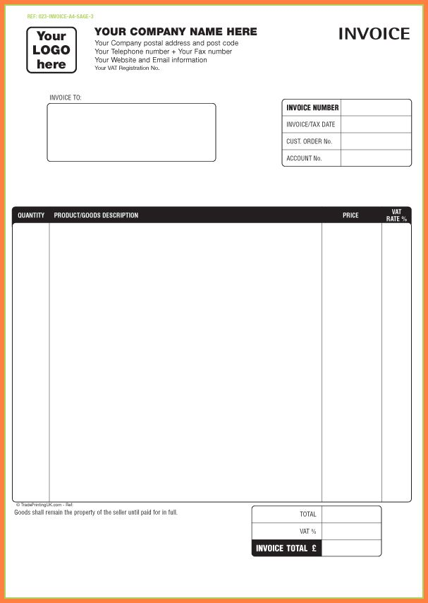 free printable invoice template - Sales Report Template