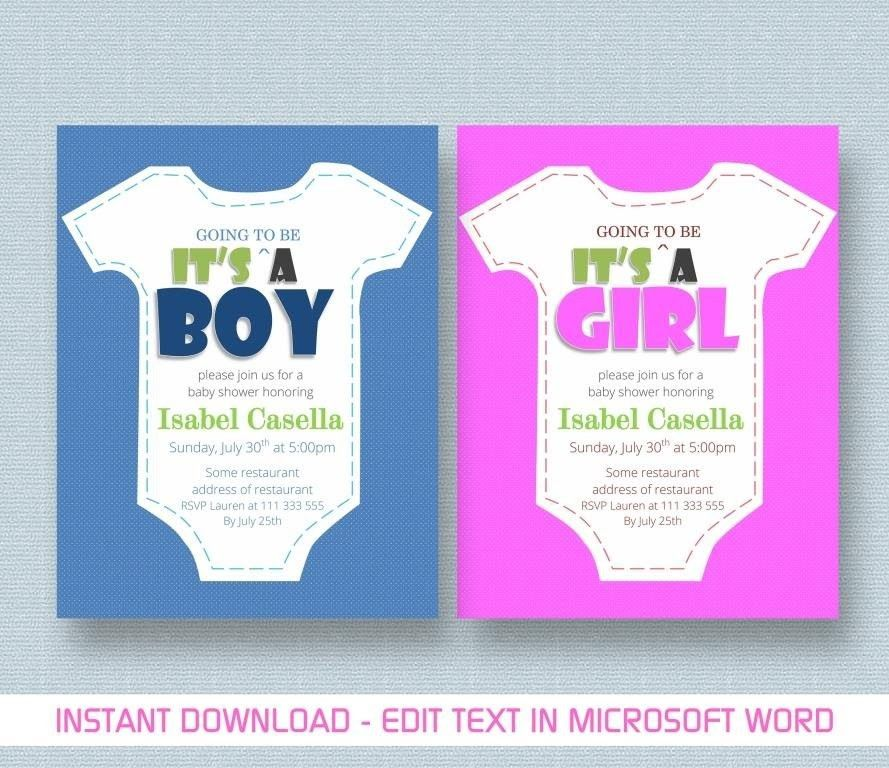 Baby Shower Invitation Templates For Microsoft Word | THERUNTIME.COM