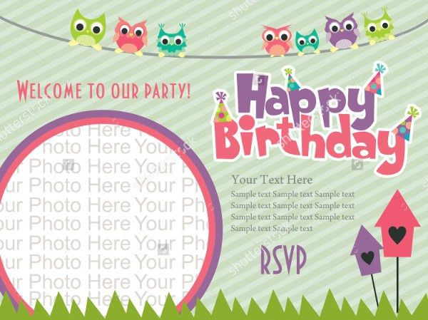 Birthday Template Invitations Best 25 Birthday Invitation – Sample Kids Birthday Invitation