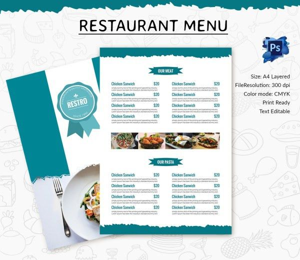 Food Menu Template - 35+ Free Word, PDF, PSD, EPS, InDesign Format ...