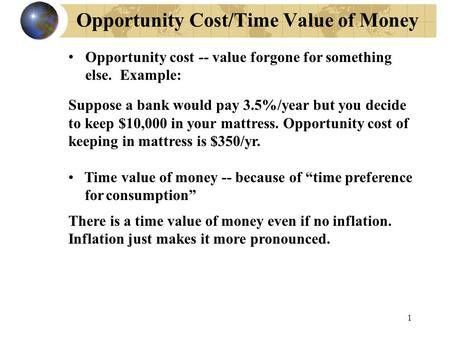 Opportunity Cost/Time Value of Money - ppt download