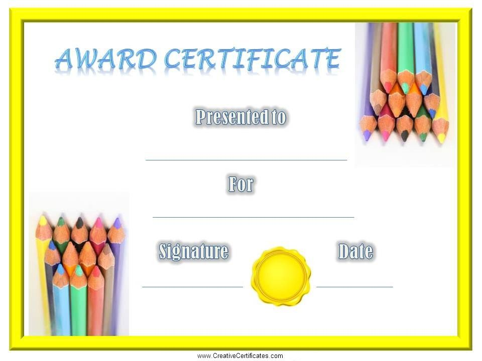 Certificates amp Awards  Printable Certificates for