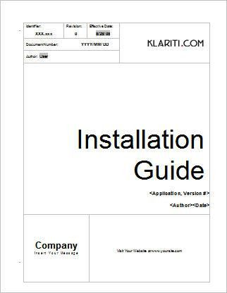 Installation Guide Template | Instant Download
