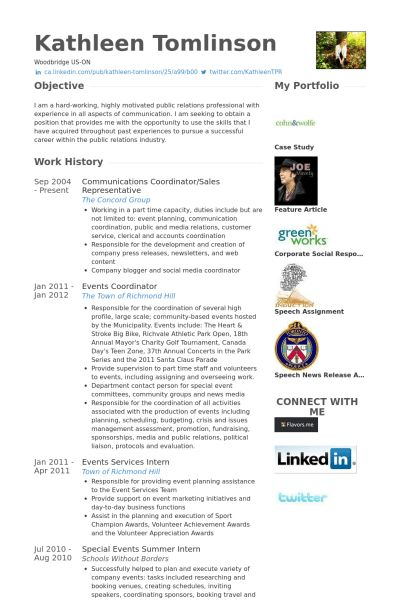 Communications Coordinator Resume samples - VisualCV resume ...