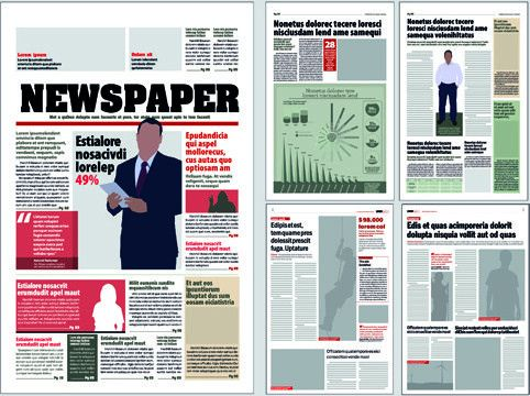 Newspaper template free vector download (12,609 Free vector) for ...