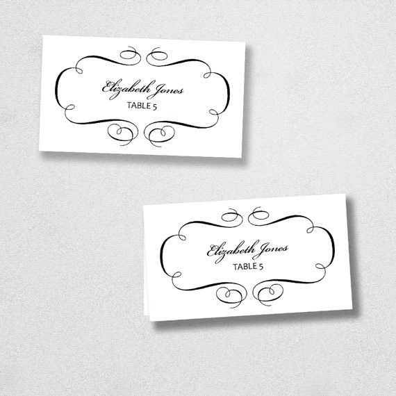 free place card template 6 per sheet – Free Online Form Templates