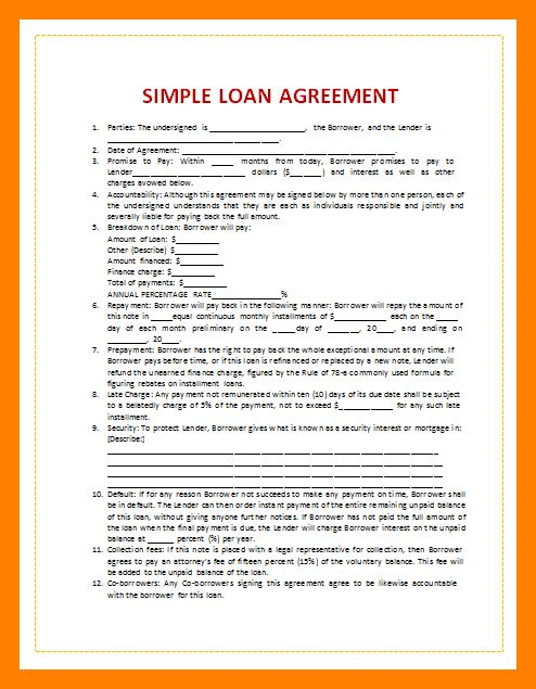 10+ loan contract template word | quotation format