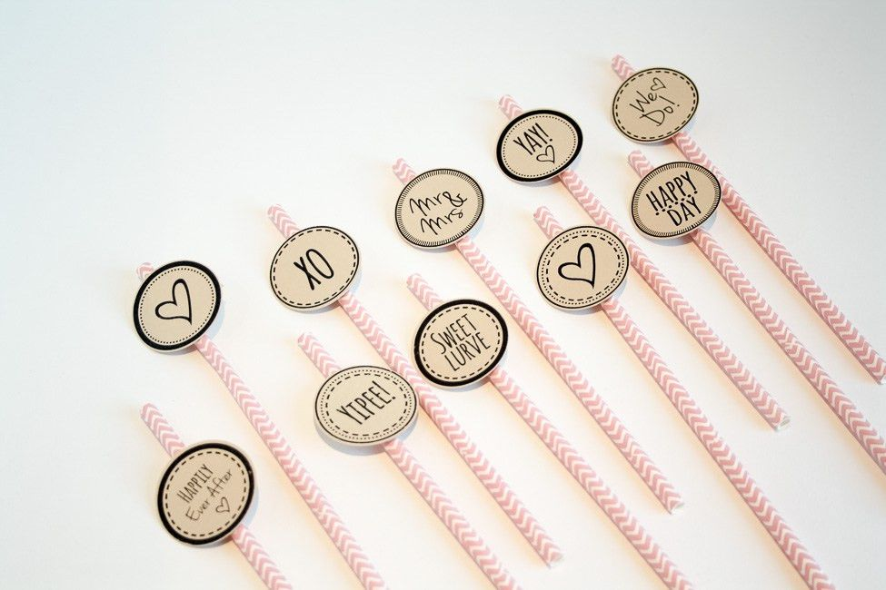 Cute Printable Cupcake Topper & Cocktail Stirrers {Free Download}?