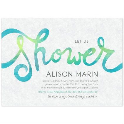 Bridal Shower Invitation Templates - Chic Cards