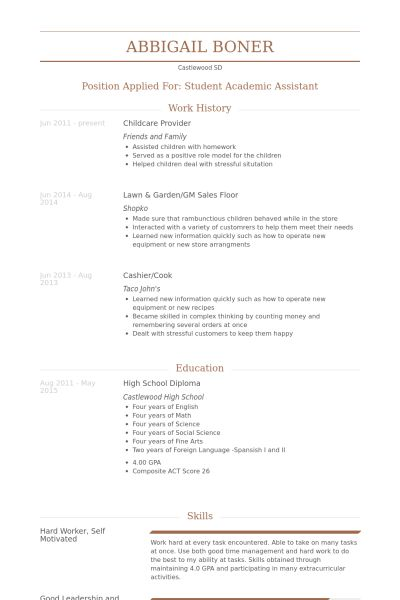 resume sample resume objective for child care teacher child care ...