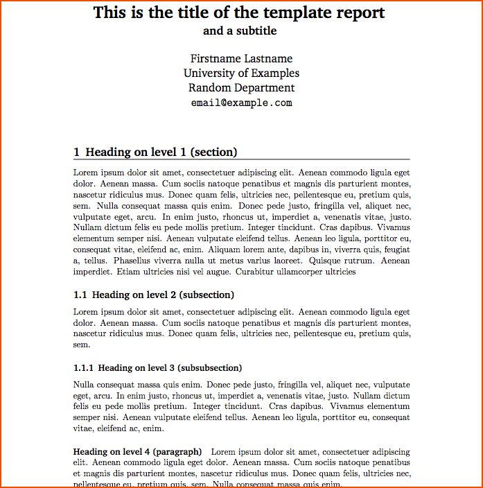 6+ report template - bookletemplate.org