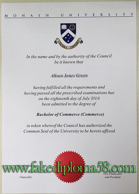 Monash University degree sample. buy fake degree, buy fake diploma ...