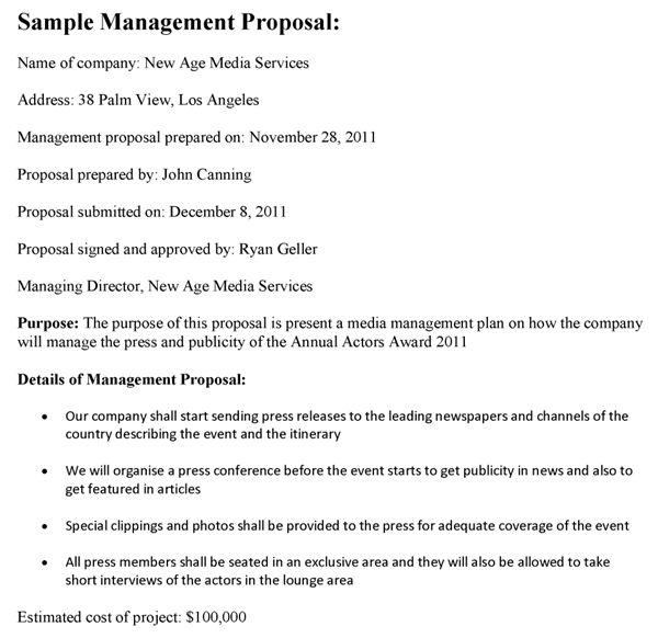 Management Proposal Sample
