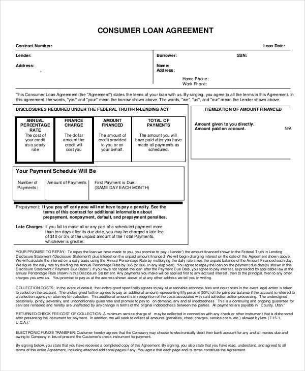 9+ Loan Contract Templates - Free Sample, Example, Format Download