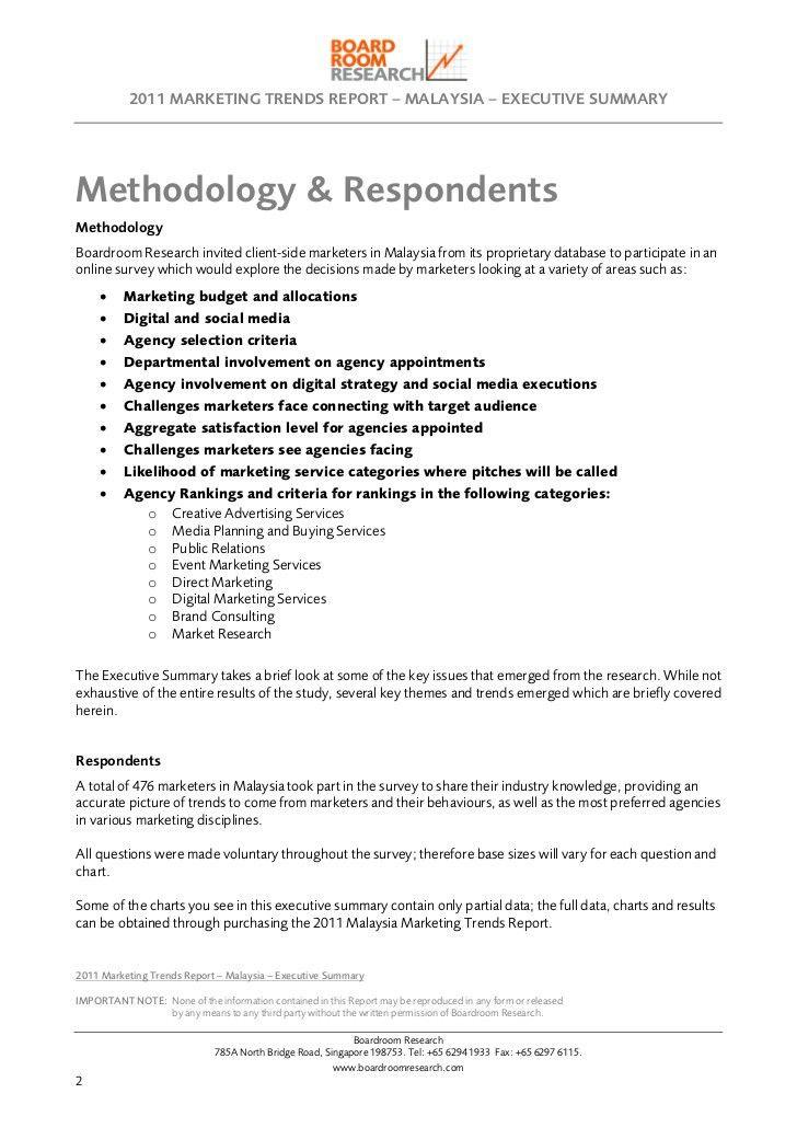 2011 Marketing Trends Report Malaysia - Executive Summary