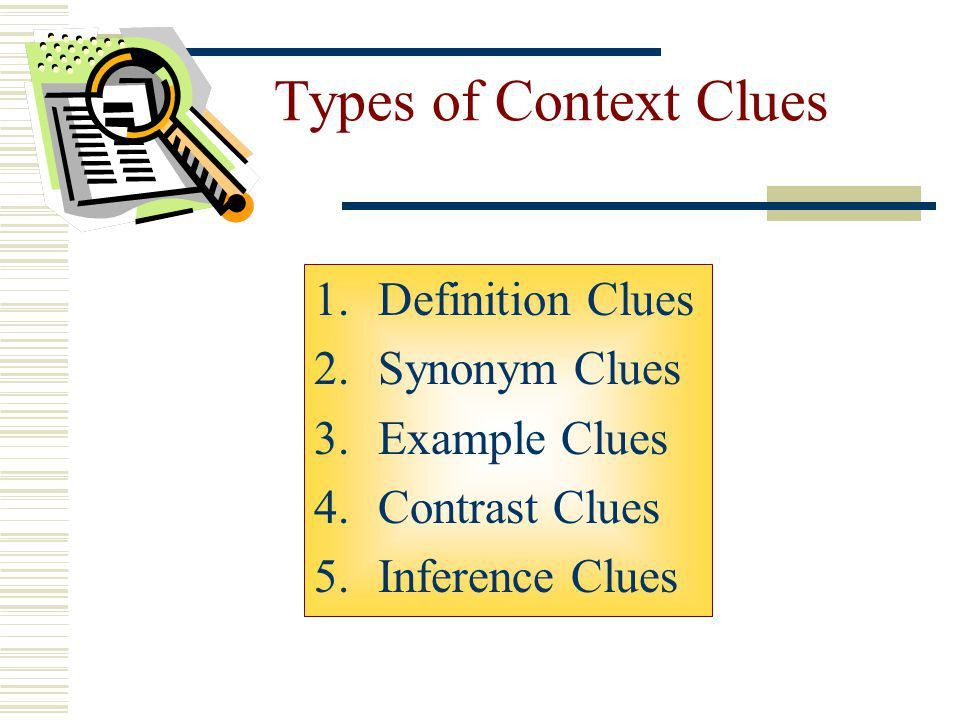 Chapter 2: Using Context Clues and Word Parts - ppt download