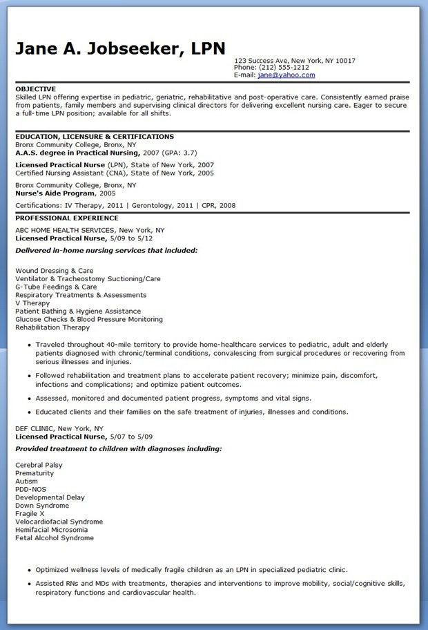 Unbelievable Lpn Resume Sample 8 Sample LPN Resume Objective ...