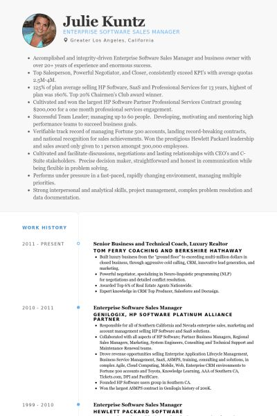 Realtor Resume samples - VisualCV resume samples database