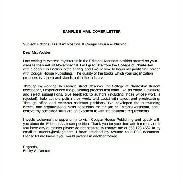 Cover Letter For Editorial Assistant | The Letter Sample