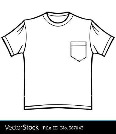 Pocket Tee Shirt Template. Vector Mens Tshirt Design Template ...