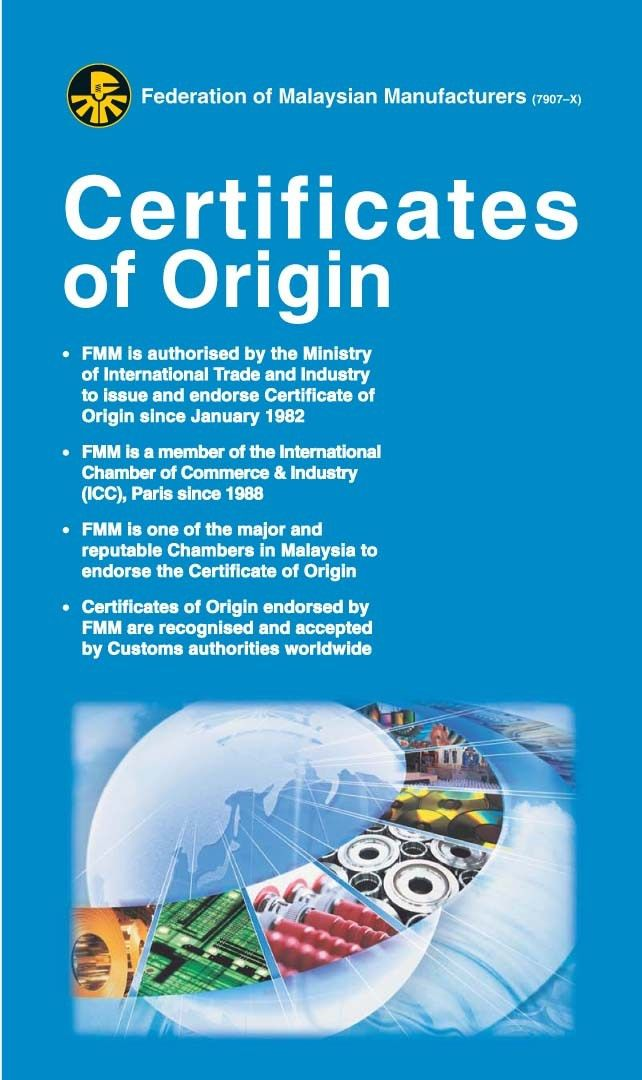 Non-Preferential Certificate of Origin