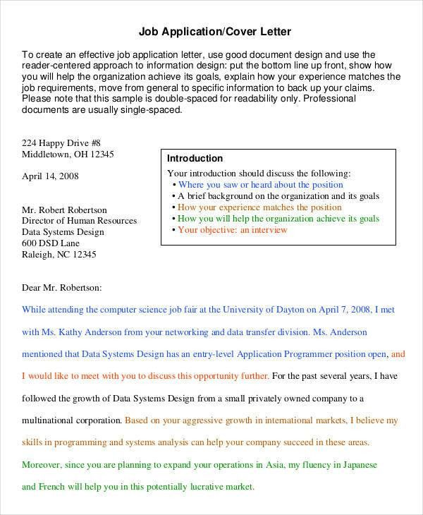 Simple Cover Letter Template. Simple Cover Letter Templates Free ...