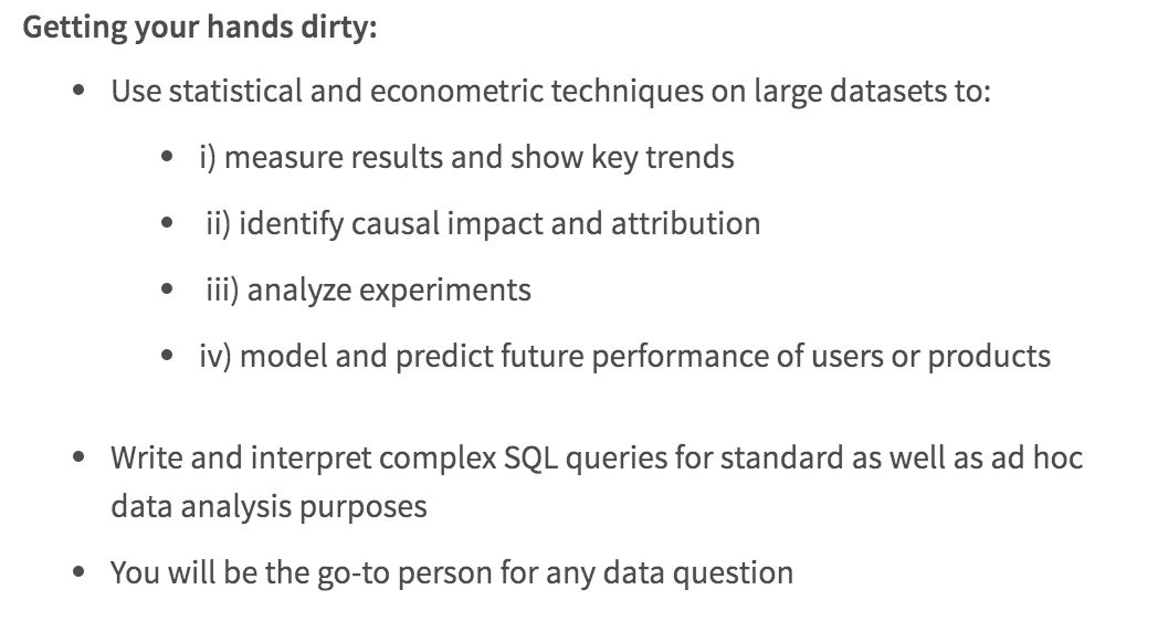 Data Scientist Job Description - Springboard Blog