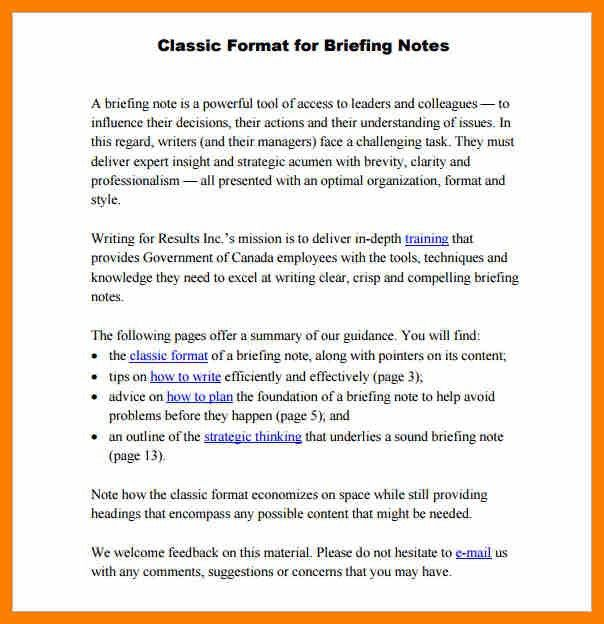 Briefing Note Template. Sample Doctor Fit Note Fit Note Sample - 8 ...