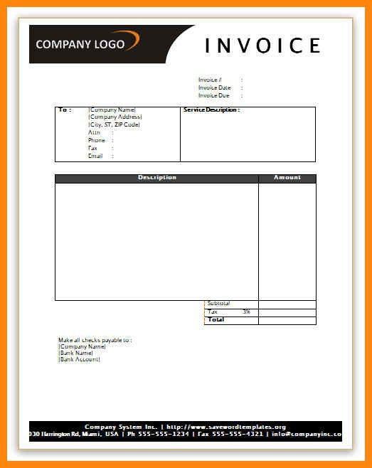 Sample Service Invoice. 4 Invoice Sample Doc | Printable Receipt ...