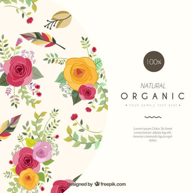 Floral card template Vector | Free Download