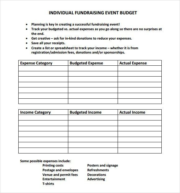 Sample Event Budget - 8+ Documents in PDF, Word, Excel