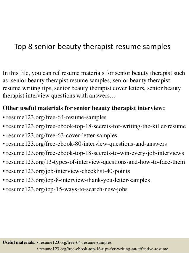 beauty therapist resume beauty therapist cover letter beauty