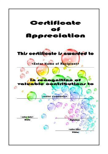 Certificates of Appreciation 106