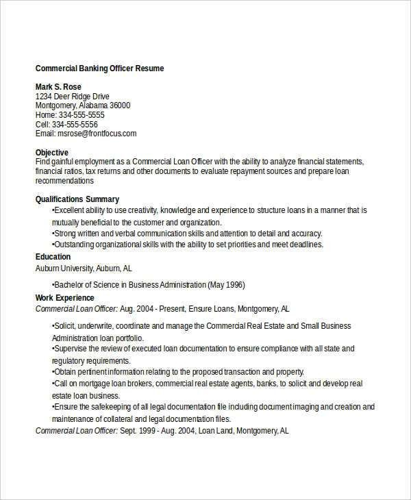 Banking Resume Templates in Word - 22+ Free Word Format Download ...