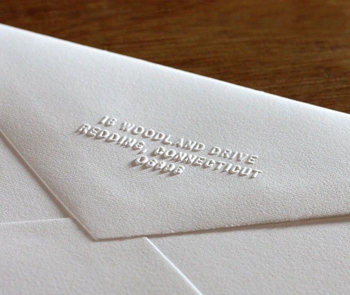 Return Address Hand Embosser for Letterpress Wedding Invitations ...