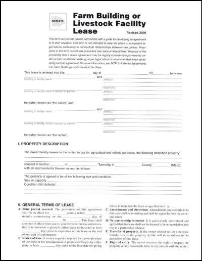7 Best Images of Land Lease Agreement Form - Farm Land Lease ...