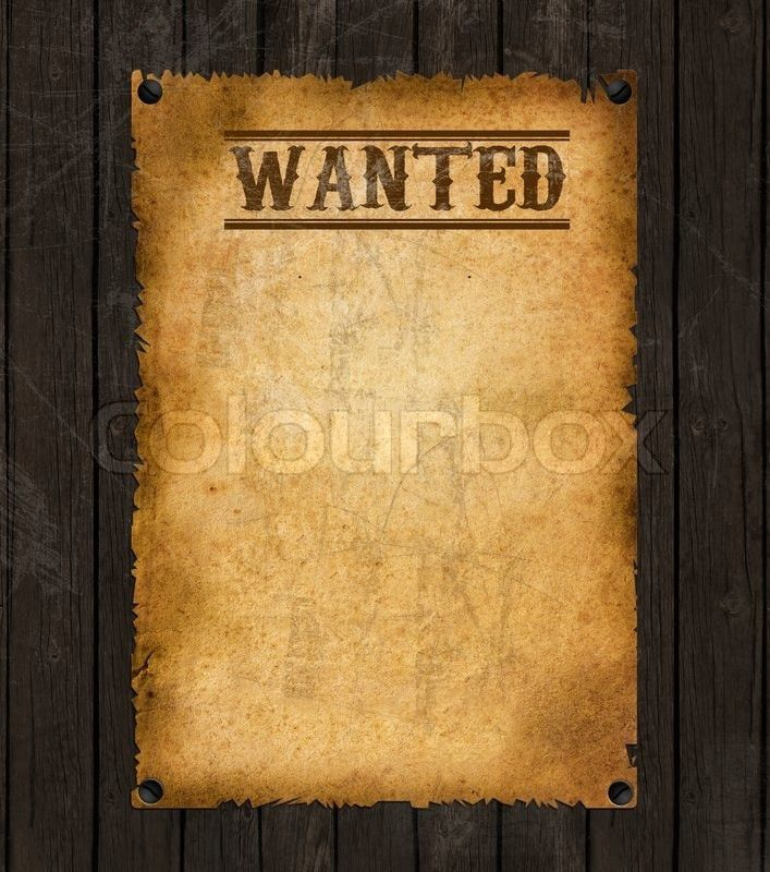 Vintage wanted poster   Stock Photo   Colourbox