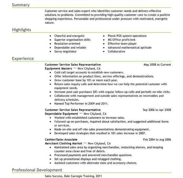 Beautiful Describe Customer Service Experience On Resume ...