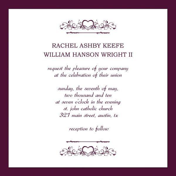 Glamorous Invitation Card Formats 49 In Reception Invitation Cards ...
